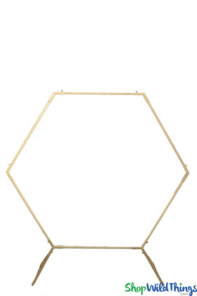 Gold Wedding Arch Backdrop Hexagon Geometric by ShopWildThings.com Made in India