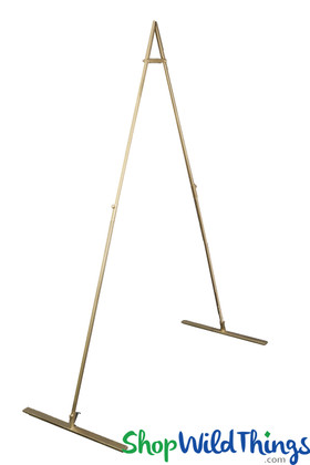 Gold Geometric Backdrop Stand Metal Triangle ShopWildThings.com