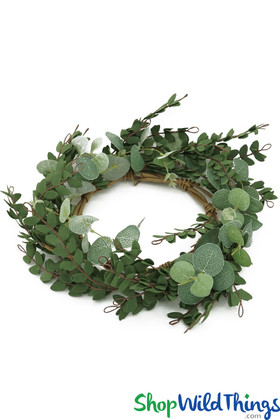 Greenery Wreath for Wedding Centerpieces ShopWildThings.com