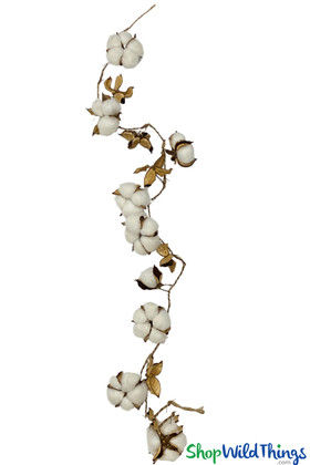 Cotton Ball Natural Clusters Garland Strands ShopWildThings