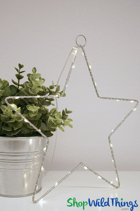 Warm White LED Lighted Star Battery Operated ShopWildThings.com