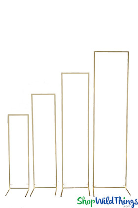 Gold Metal Stands Rectangle Floral and Balloon Decoration Stands ShopWildThings.com