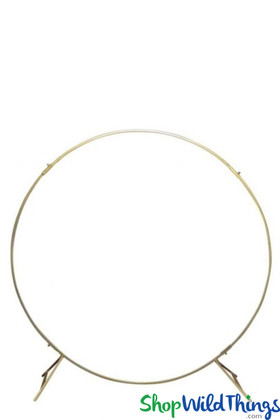 Round Gold Wedding Arch Backdrop Heavy Duty Made in India ShopWildThings better quality arches