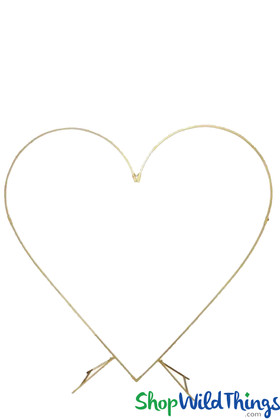 Heart Backdrop Gold Wedding Hearts Arch ShopWildThings Balloon and Floral Stand