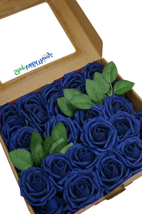 Royal Blue Foam Stem Box Flowers for Centerpieces and Bouquets ShopWildthings.com