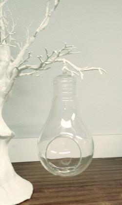 "Hanging Lightbulb Terrarium Vase & Candle Holder 8 3/4"""