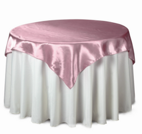 Table Overlay - Pink Satin - 5Ft x 5Ft
