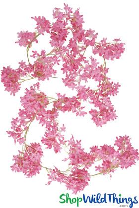 "Pink Cherry Blossom Garland Strand 71"""