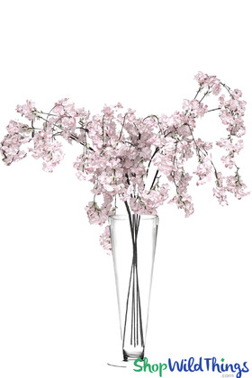 Light Pink and White Cherry Blossom Branches ShopWildThings.com