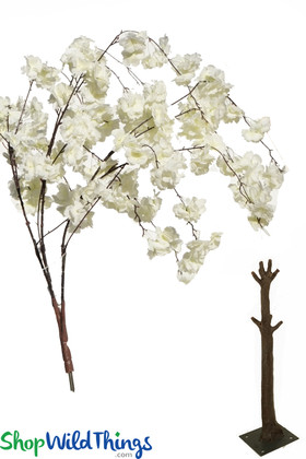 White Fluffy Flowers ShopWildThings Replacement branches for interchangeable trees ShopWildThings.com