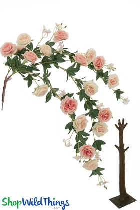 Big Draping Rose Spray Piano Roses Interchangeable Flowering Tree Branches ShopWildthings.com