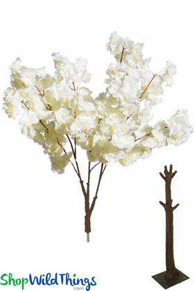 Cream Color Silk Dogwood Flower Tree Branches Replacement Interchangeable ShopWildThings.com