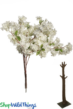 Off White Cream Fluffy Floral Spray for Flowering Trees Interchangeable Branches ShopWildThings.com