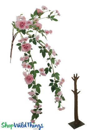 Pink Roses Flowering Branch Replacement Parts for Floral Trees ShopWildThings.com