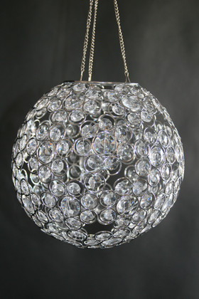"Chandelier or Table Decor ""Ayanna"" - Crystal Beaded Sphere 9"" Diameter"