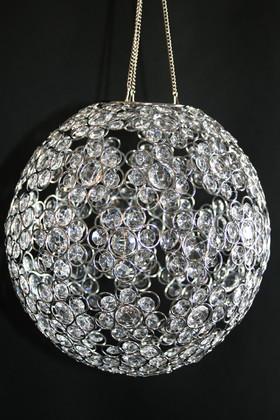 "Chandelier or Table Decor ""Ayanna"" - Crystal Beaded Sphere 12"" Diameter"