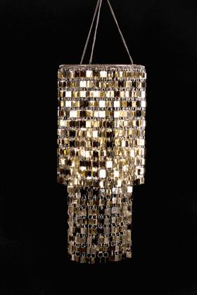 Shimmy Lightweight Chandelier  - Light Gold
