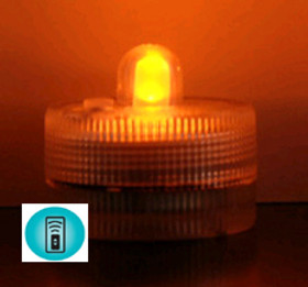 Acolyte Sumix 1 - Amber - Set of 10 - Submersible Remote Control Compatible LED Light