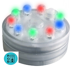 Acolyte Sumix 9 - RGB Color Changing Submersible LED with 9 Lights - Remote Control Compatible