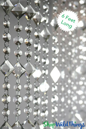 Acrylic Beaded Curtains looks like crystal Aces and Eights Adjustable Length
