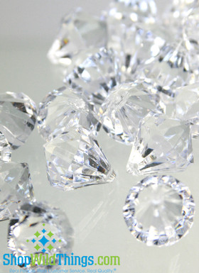Bryn  Crystal Acrylic Pendants - Clear - Bag of 68 pcs