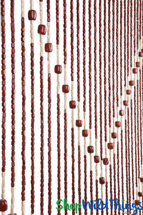 """Wooden Bead Curtain - """"Ming"""" - 35"""" x 68"""" - 27 Strands"""
