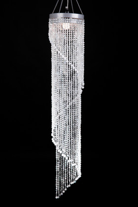 Swirling Crystal Chandelier for Weddings and Events ShopWildThings.com