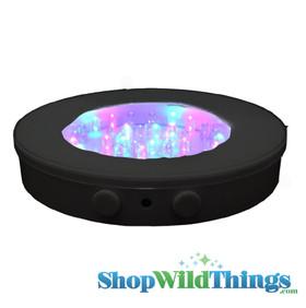 """Black Base 6"""" Super Bright 40 LED Color Changing (or just White!) Light Base"""
