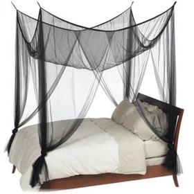 """BOGO Canopy """"Zanzibar"""" Black Four Point Luxury Quality Mosquito Net"""