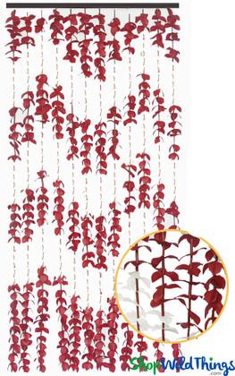 """FabuLush Fabric Flowers"" Curtain - Burgundy and Ivory - 3' x 6'"