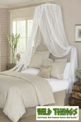 """BOGO Canopy """"Dreamy"""" Mosquito Net Bed Canopy - White"""