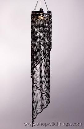 Chandelier Chelsea Swirl Crystals- Black Non-Iridescent - 4 ft