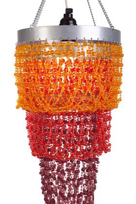 "Chandelier ""Mini Pop"" Orange & Red"