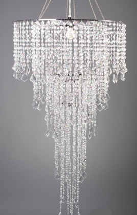 Extra Large Chandelier Set Acrylic Beaded Iridescent | ShopWildThings.com