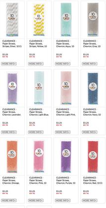 1 LOT AVAILABLE!  CLEARANCE Paper Straw Lot  - Chevron, Stripes, Dots - Asst Colors - 8,400 Pcs!