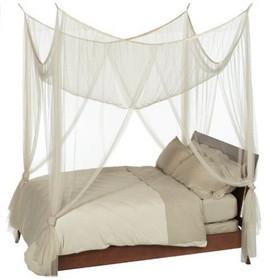 """BOGO Canopy """"Zanzibar"""" Cream Four Point Luxury Quality Mosquito Net"""