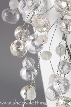 Crystal Beaded Garlands 4 Feet - Crystal