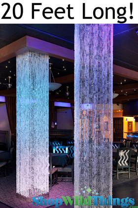 Diamond Crystal Sparkling (Iridescent) Square Column - 20 Feet Long - PREMIUM QUALITY BEADS!