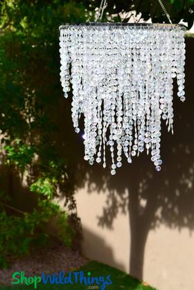"Chandelier Ashlynn 3 Tiers - Crystal Iridescent - 22"" Long"