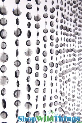 Diamante Duo Beaded Curtain - Smoke Non-Iridescent - 3 ft x 6 ft