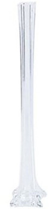 "Eiffel Tower Vases - Clear - 16"" - Set of 12"