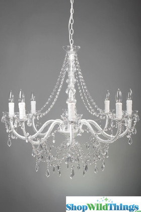 Fancy Event Chandelier Crystal and White ShopWildThings.com