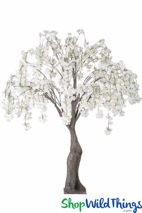 Artificial White Cherry Blossom Tree Arching Say Yes to the Dress ShopWildThings BeEvents TLC Wedding Trees