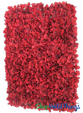 Red Hydrangea Flower Panel Backdrop Walls Premium ShopWildThings Flowers
