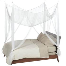 """BOGO Canopy """"Zanzibar"""" White Four Point Luxury Quality Mosquito Net"""