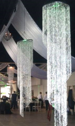 Chandelier Grand Chelsea Swirl - Diamonds Crystal Iridescent - 2 ft x 10 ft