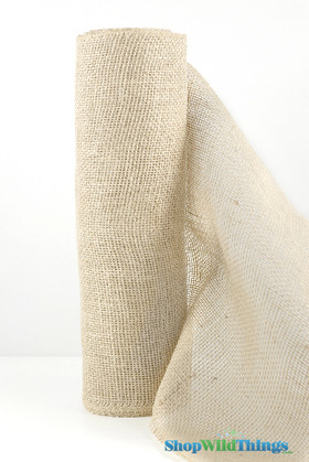 """Jute Natural Fabric Bolt Ivory 19.7""""x10yd -  High Quality Open Weave"""