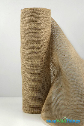 """Jute Natural Fabric Bolt Natural 19.7""""x10yd - High Quality Open Weave"""
