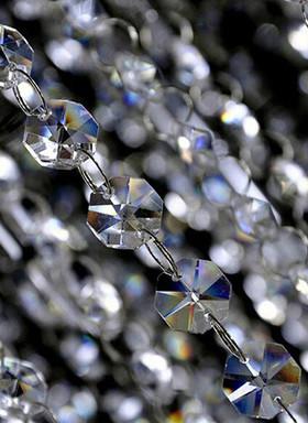 "K9 Crystal Premium Beaded Garland Strand - 1/2"" Beads - 16 Feet Total"