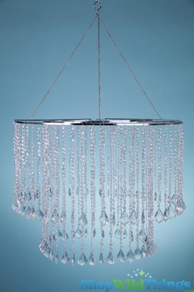 "Chandelier, Marbella 25"" x 18"" Crystal Iridescent Diamonds Bead"